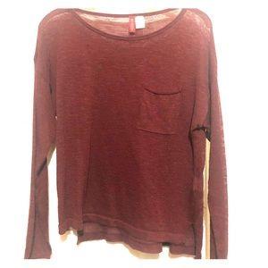 H&M Lightweight Maroon Sweater